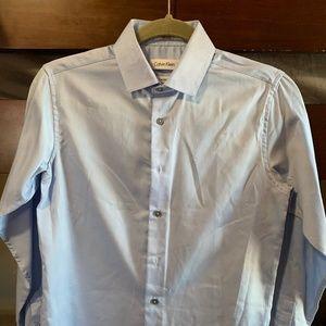 Calvin Klein Boy's Long Sleeve Dress Shirt Size 14
